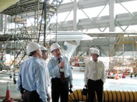 With EVERGREEN Powerplant Overhaul Facility experts (Taiwan 2009)