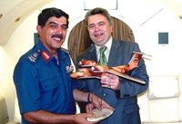 With Vice Air Marshal of Egyptian Air Force Gen. Ahmed Kadry Elmaanawy (Kharkiv 2004)