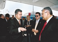 With the Parliamentary Delegation of Turkey (Ankara 2003)