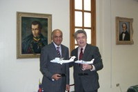 With Vice-President of Venezuela Mr. Jorge Rodríguez Gómez (Caraсas 2007)